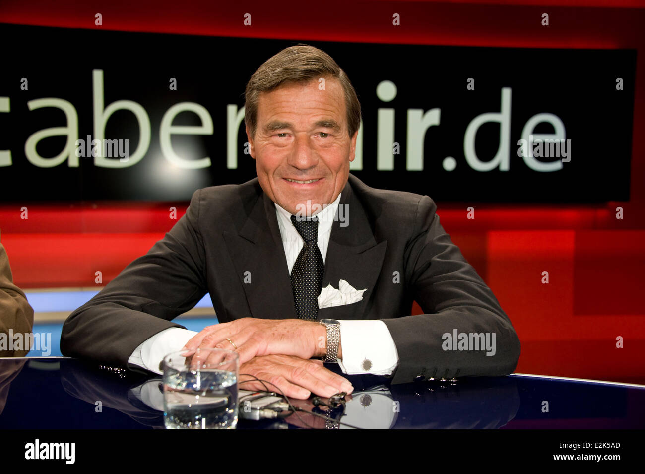 Wolfgang Grupp on German ARD TV show Hart aber fair at WDR Studios.  Where: Cologne, Germany When: 29 Apr 2013 - Stock Image