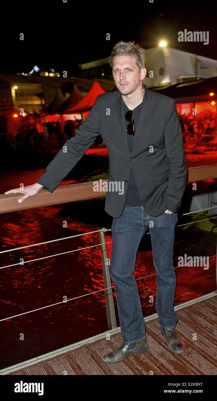 Jan-Ole Gerster at German Film Reception at Majestic beach.  Where: Cannes, Germany When: 20 May 2013 - Stock Image