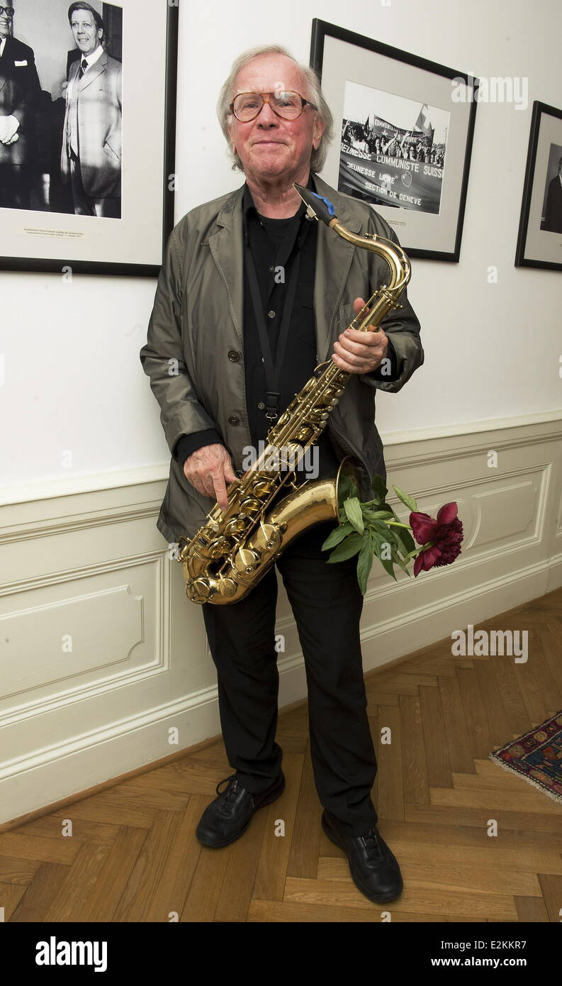 Klaus Doldinger at the Montreux Jazz Festival - zu Gast in Berlin gala at Swiss embassy.  Where: Berlin, Germany - Stock Image