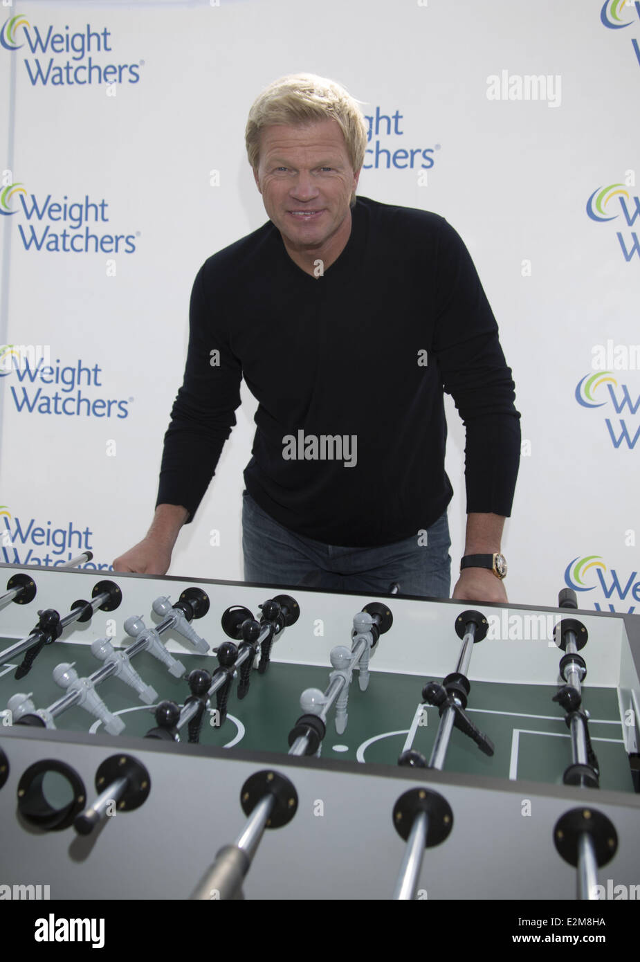 Oliver Kahn Shows Off His New Body After The Weight Watcher Programm Right Before The Soccer Season Starts Where Hamburg Ger Stock Photo Alamy