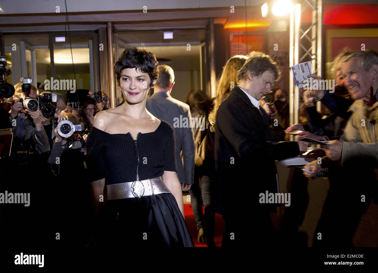 Audrey Tautou at Schaum der Tage premiere at Cinema Paris movie theater.  Where: Berlin, Germany When: 17 Sep 2013 - Stock Image