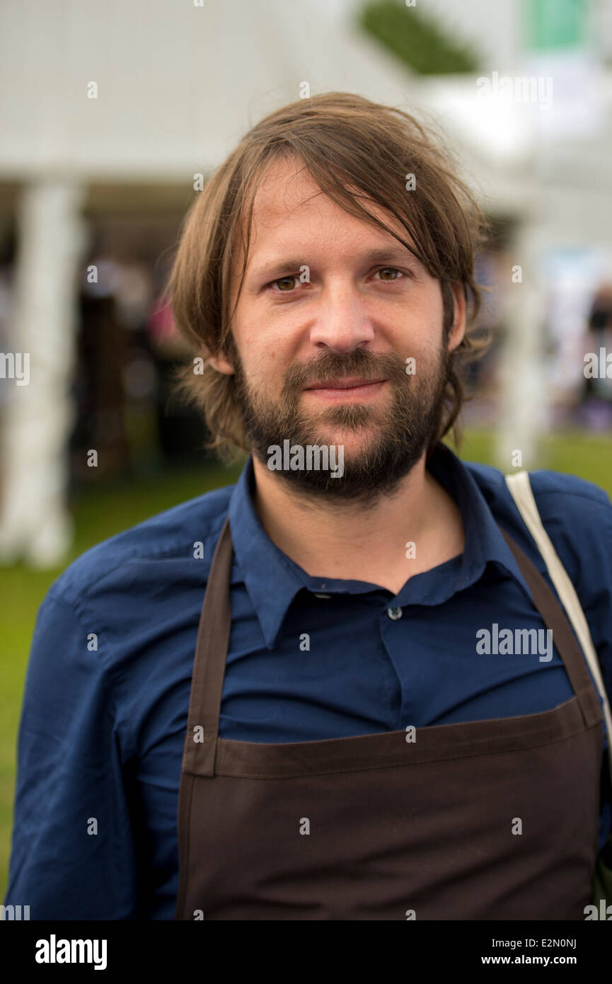 Rene Redzepi is the chef and owner of two Michelin starred Noma restaurant which has been voted the best restaurant Stock Photo