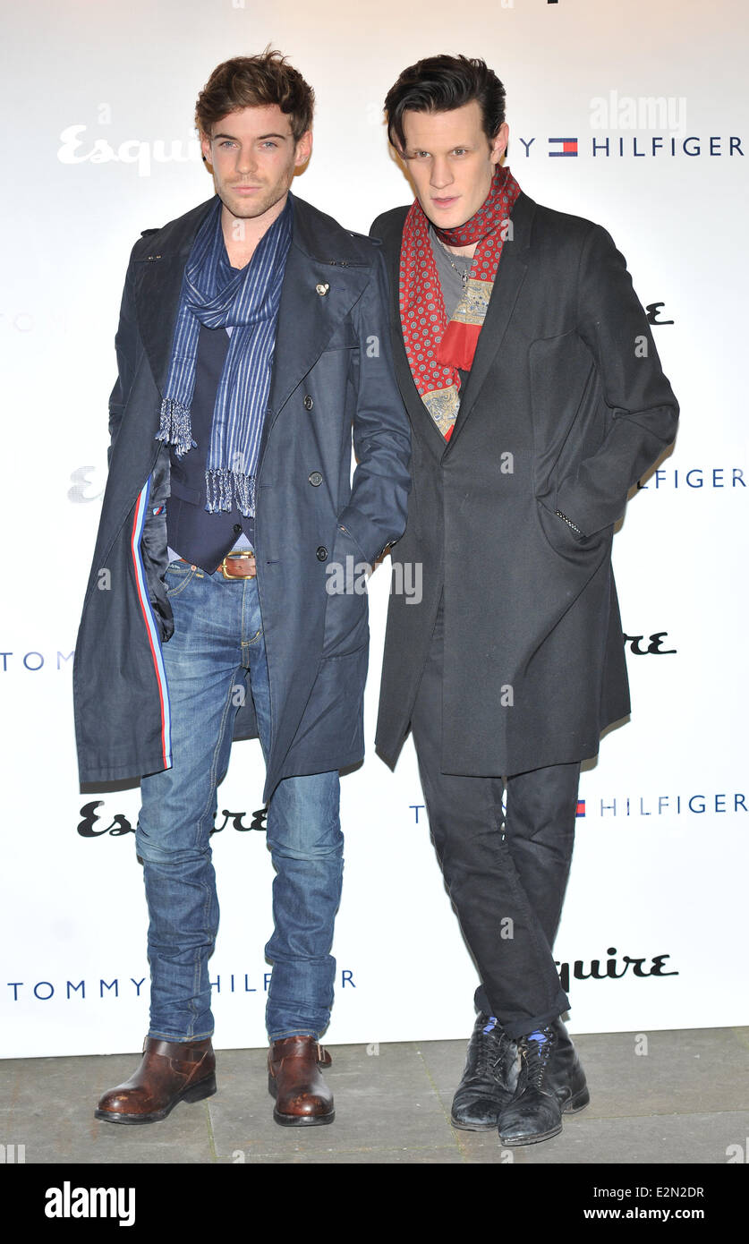 abe59bcf London Collections: Men - Tommy Hilfiger and Esquire - party held at The  Zetter Townhouse - Arrivals Featuring: Harry Treadway,Matt Smith Where:  London, ...