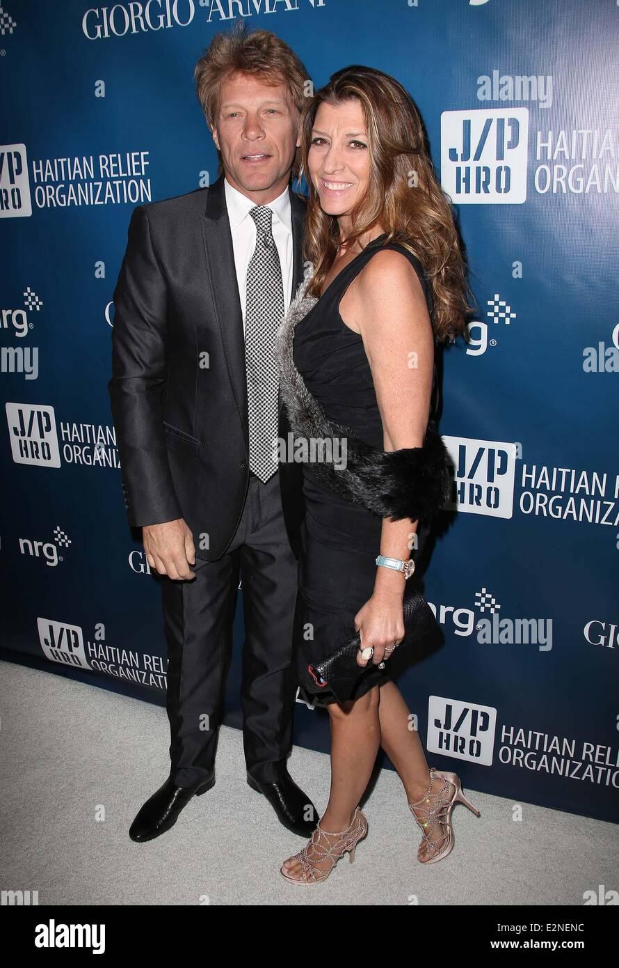2nd Annual Sean Penn and Friends Help Haiti Home Gala benefiting J/P HRO presented by Giorgio Armani - Arrivals Featuring: Jon Bon Jovi,Dorothea Hurley ...