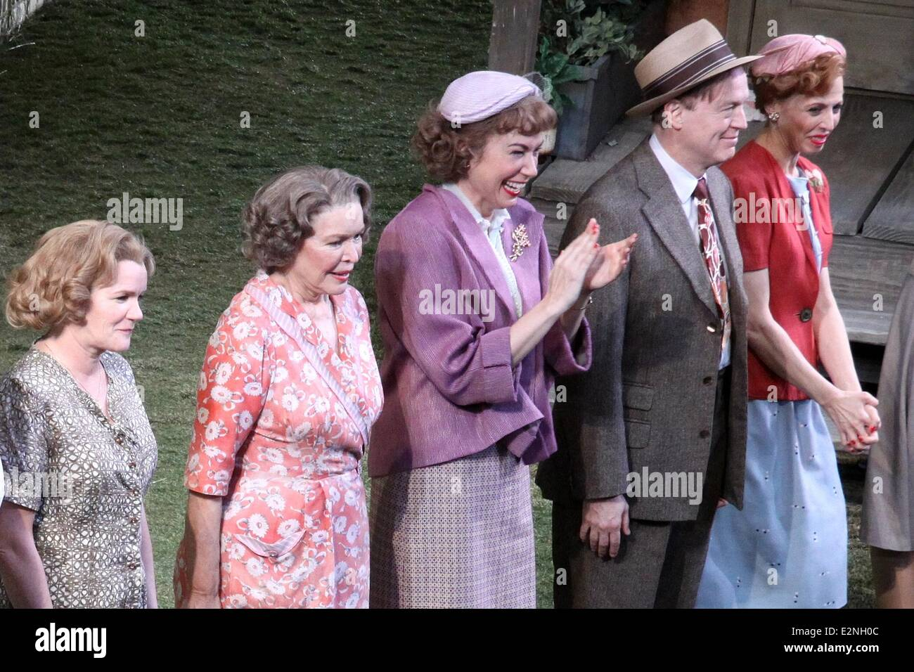 The opening night curtain call for 'Picnic' at the American