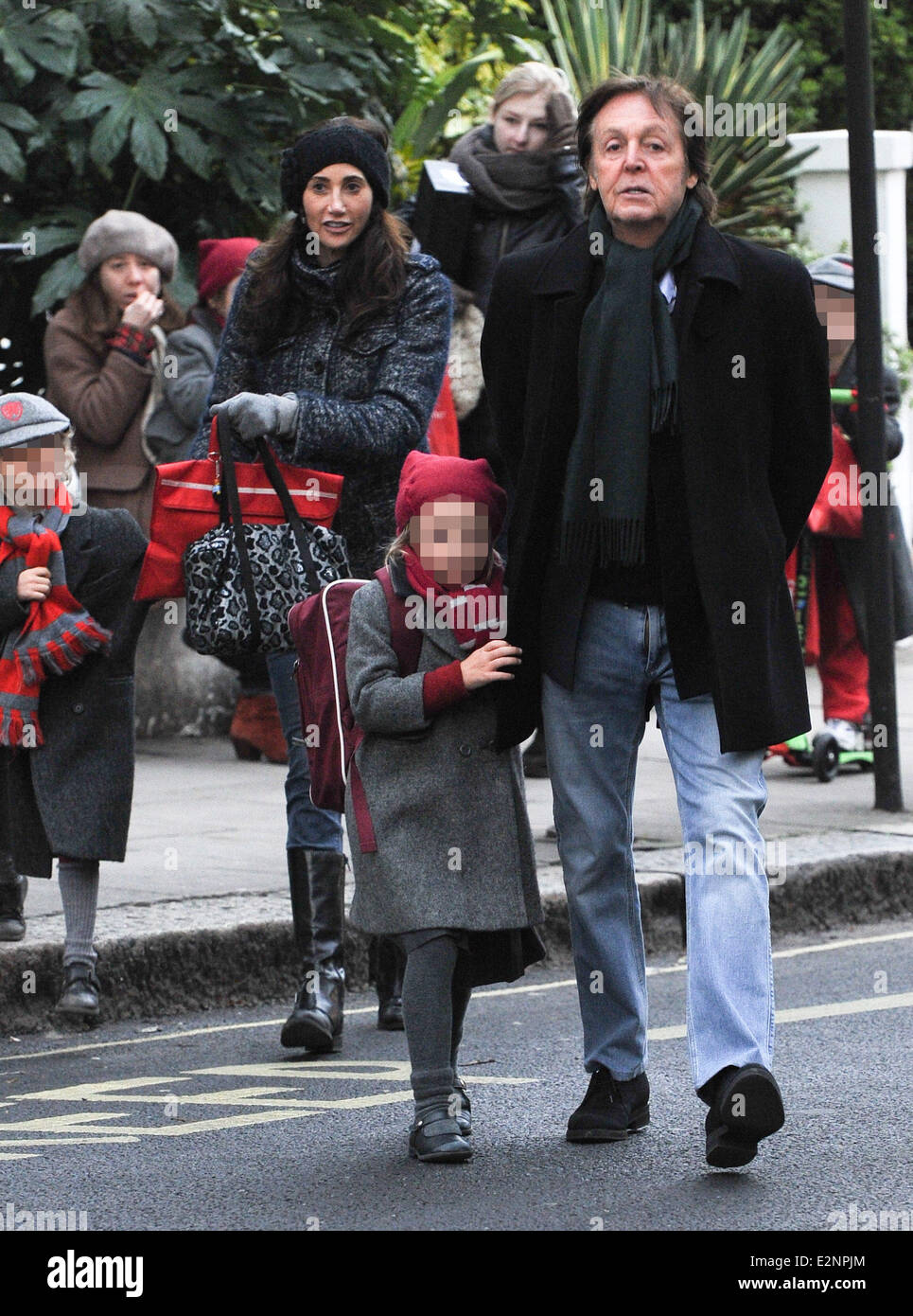 Sir Paul McCartney With Wife Nancy Shevell And His Daughter Beatrice Out About In Notting Hill Featuring McCartneyNa