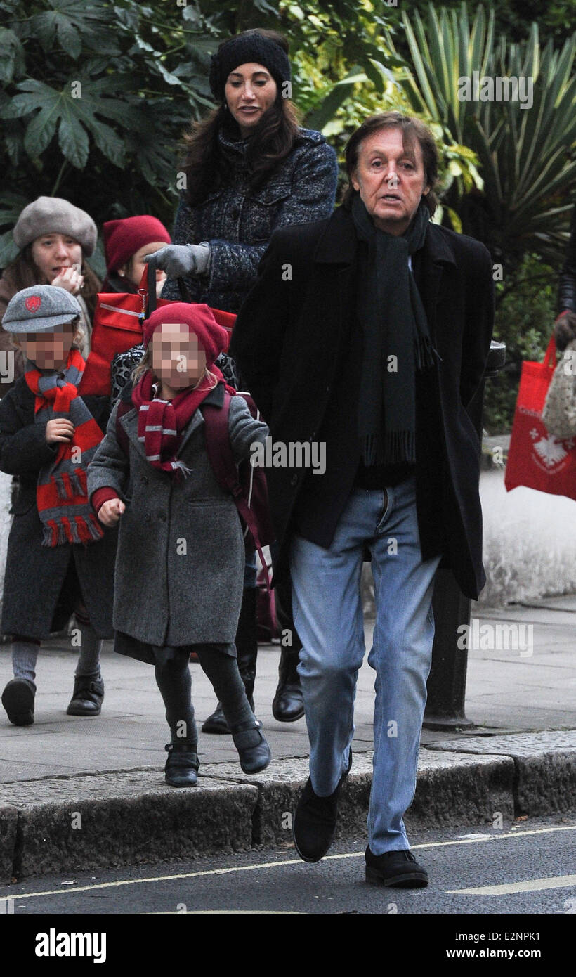 Sir Paul McCartney With Wife Nancy Shevell And His Daughter Beatrice Out About In Notting Hill Featuring McCartneyNancy ShevellBeatrice