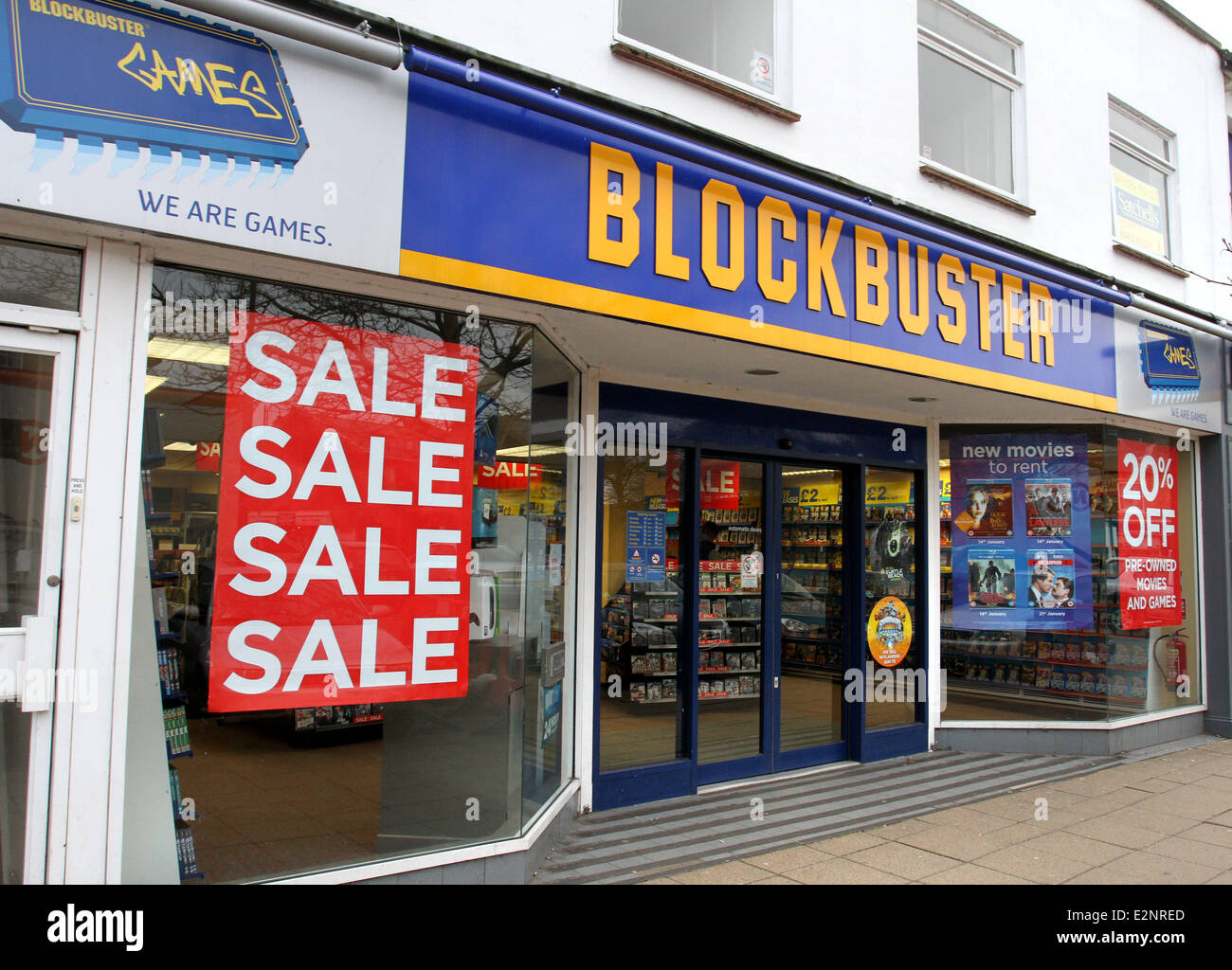 DVD and video games rental firm Blockbuster UK, which has 528 stores
