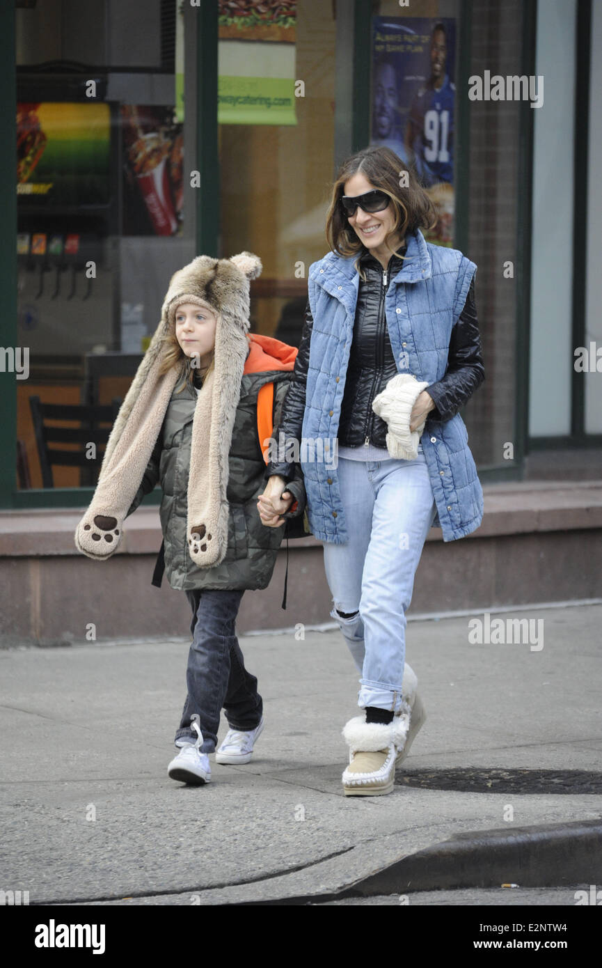 2ebc9fb4833 Sarah Jessica Parker takes her son to school in the West Village Featuring  Sarah  Jessica Parker