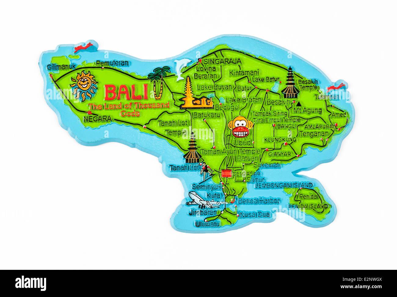 Cartina Bali Indonesia.Bali Map High Resolution Stock Photography And Images Alamy