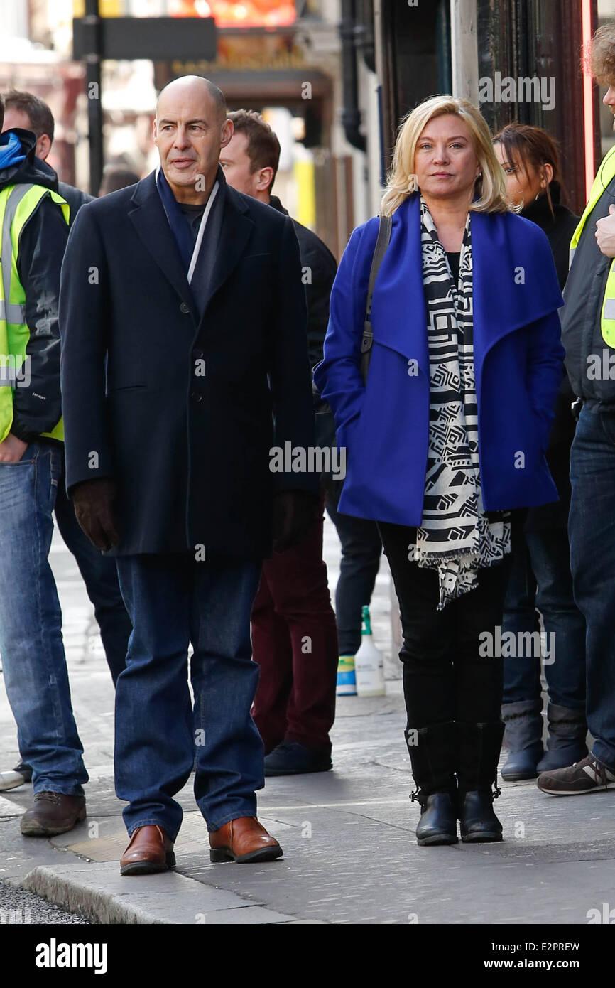 Nicholas Lyndhurst And Amanda Redman Filming For Bbc Series New Stock Photo Alamy