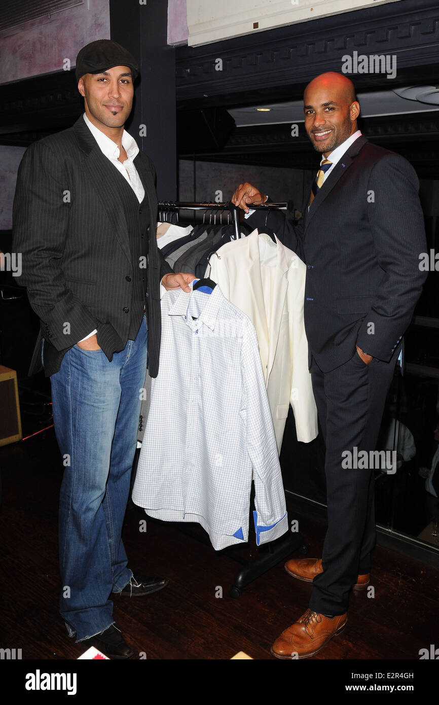 Actor and co-founder of ALFA clothing, Boris Kodjoe hots an evening of fun and luxury fashion at South Street Restaurant Stock Photo