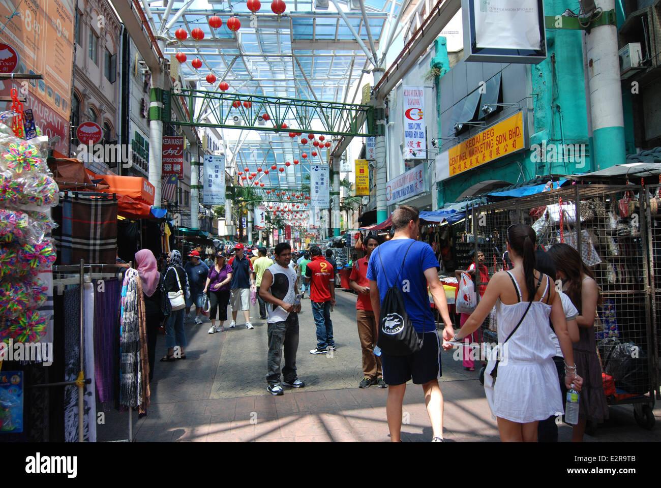Petaling Street Kuala Lumpur Malaysia - Stock Image