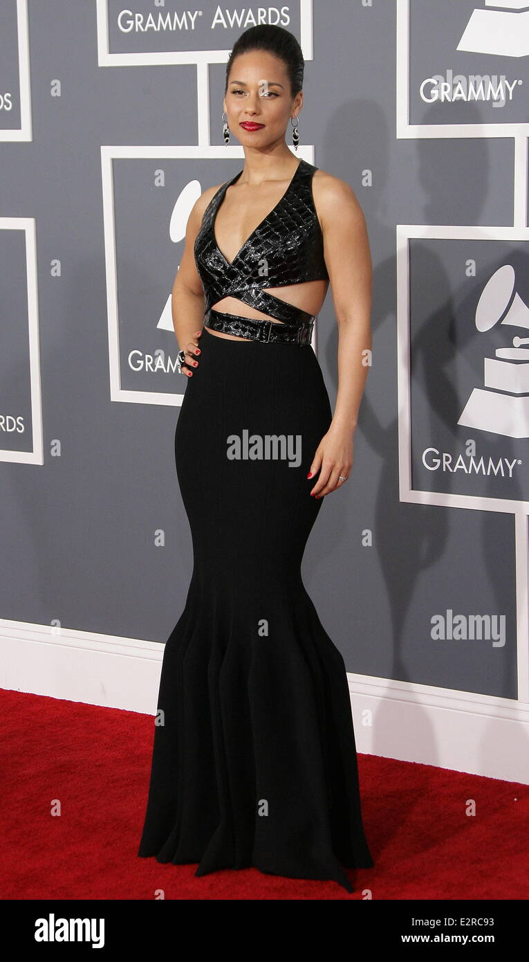 39cfb5c8e862 55th Annual GRAMMY Awards - Arrivals held at Staples Center Featuring   Alicia Keys Where  Los Angeles