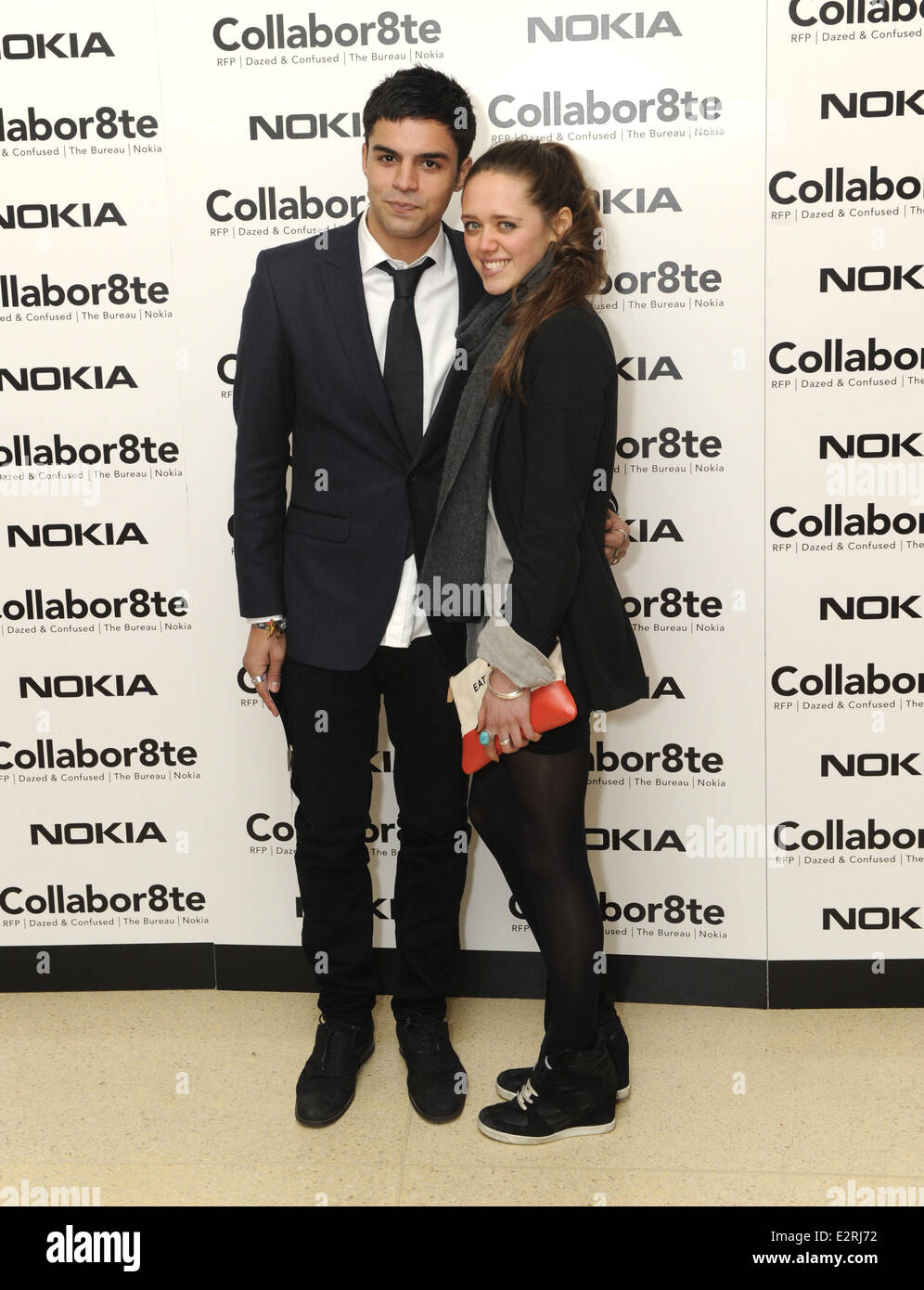 Collabor8te Connected by NOKIA Premiere at Regent Street Cinema  Featuring: Sean Teale and girlfriend Where: London, - Stock Image