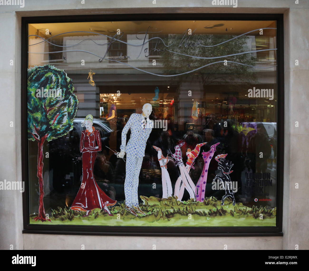 190120e3b88d8 The May Fair hotel unveils its fashion windows by Manolo Blahnik CBE as  part of London Fashion Week Featuring: Manolo Blahnik Where: London,  England When: ...