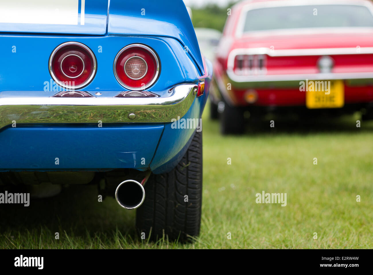 Chevrolet Camaro Rear End Abstract Classic American Cars Stock