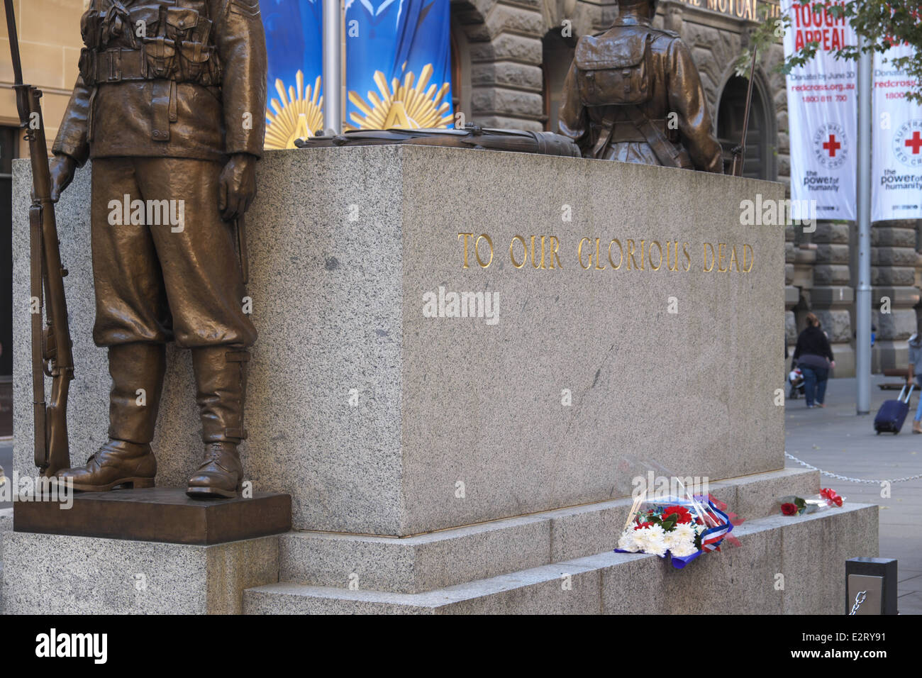 to our glorious dead, memorial of world war in martin place Sydney,australia - Stock Image