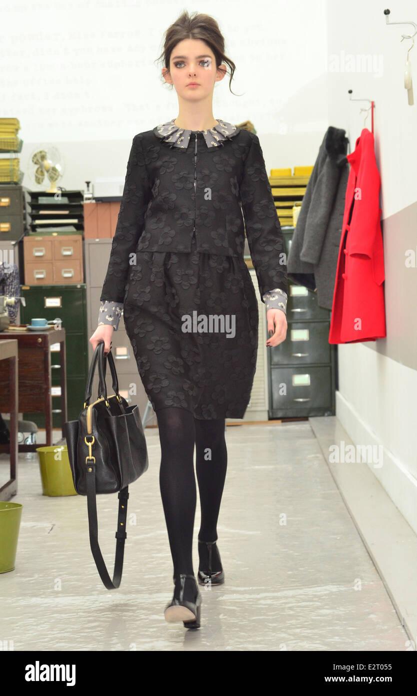 934305d77c London Fashion Week - Autumn/Winter 2013 - Orla Kiely - Show Featuring:  Model