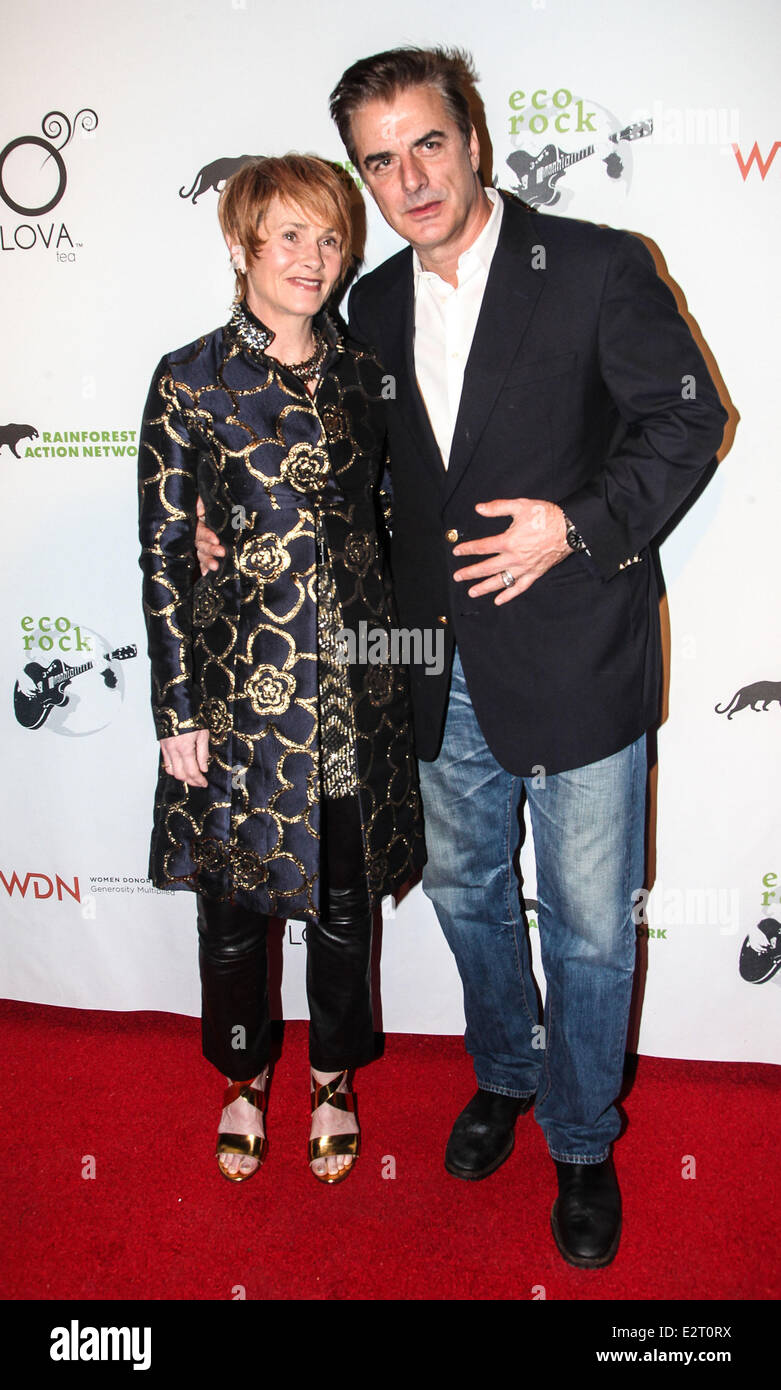 Rainforest Action Network Benefit, held at the Cutting Room - Arrivals  Featuring: Shawn Colvin,Chris Noth Where: - Stock Image