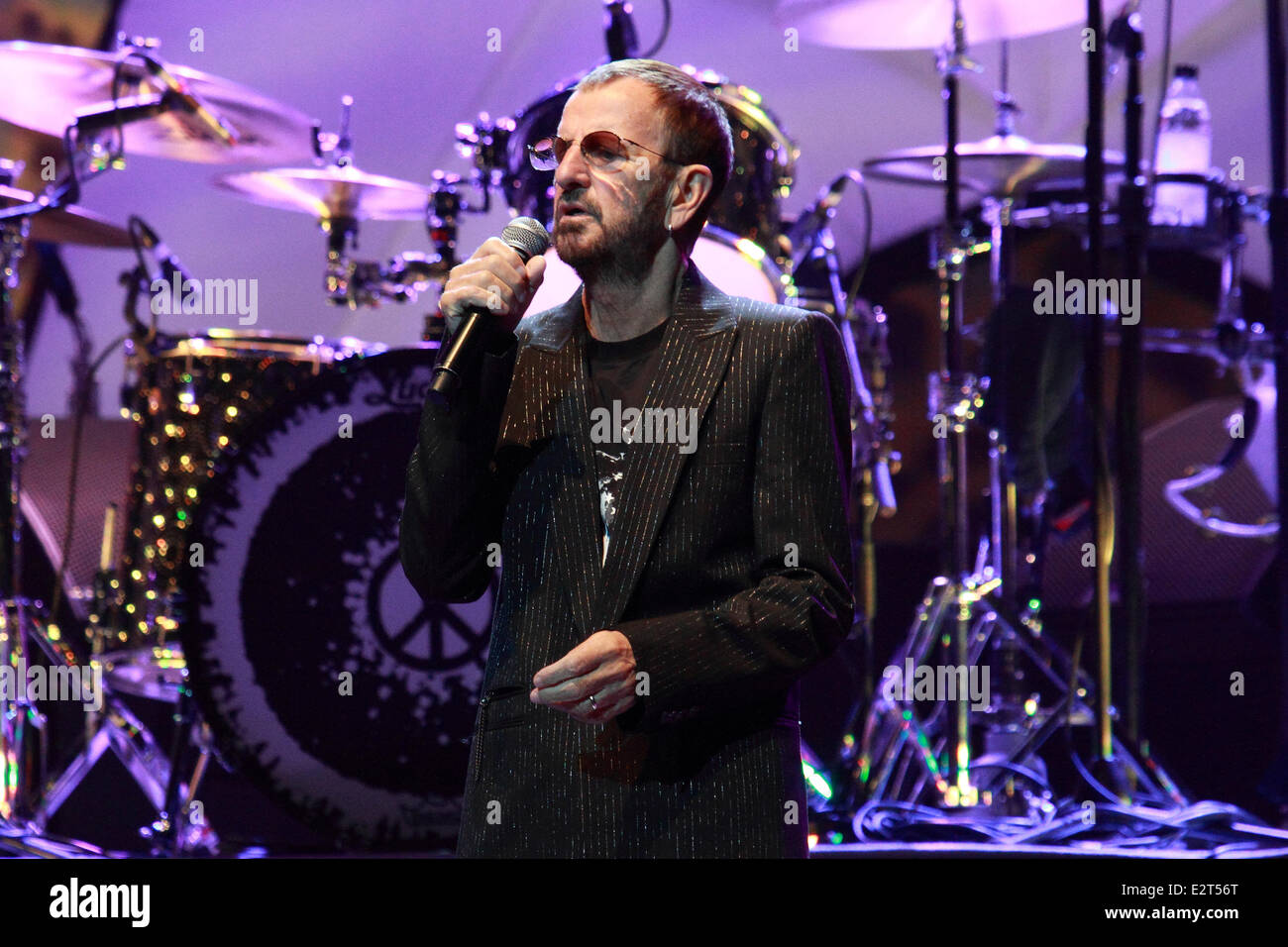 Ringo Starr All-Starr Band performing live in concert at the Adelaide Entertainment Centre  Featuring: Ringo Starr - Stock Image