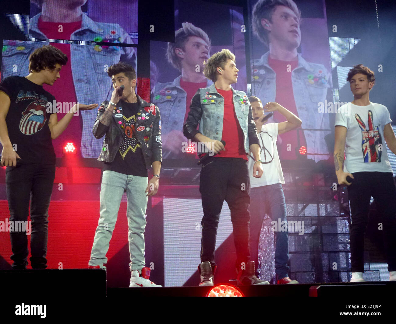 One Direction perform during the second night of their Take