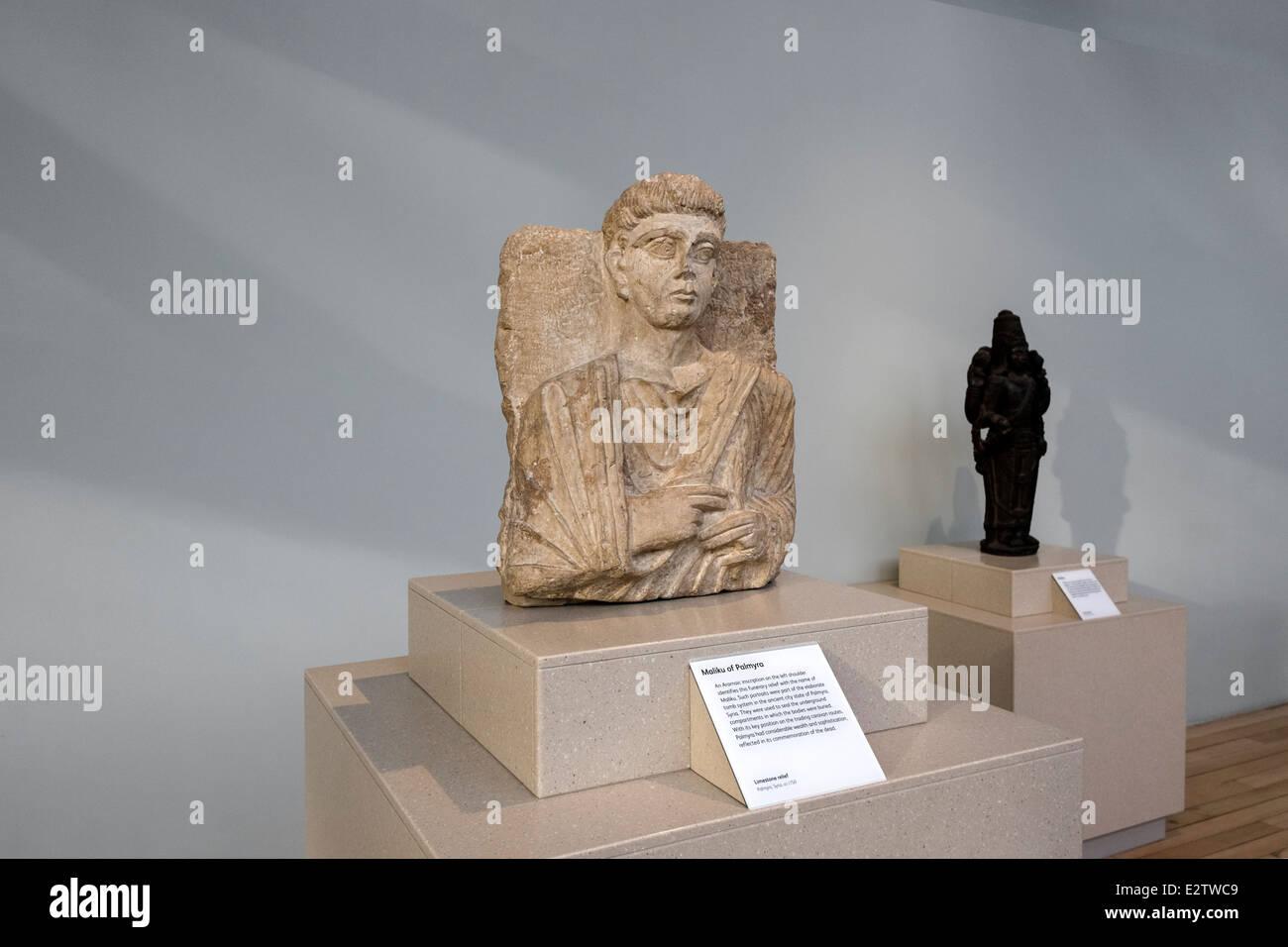 Maliku of Palmyra. National Museum of Scotland, Edinburgh, Scotland - Stock Image
