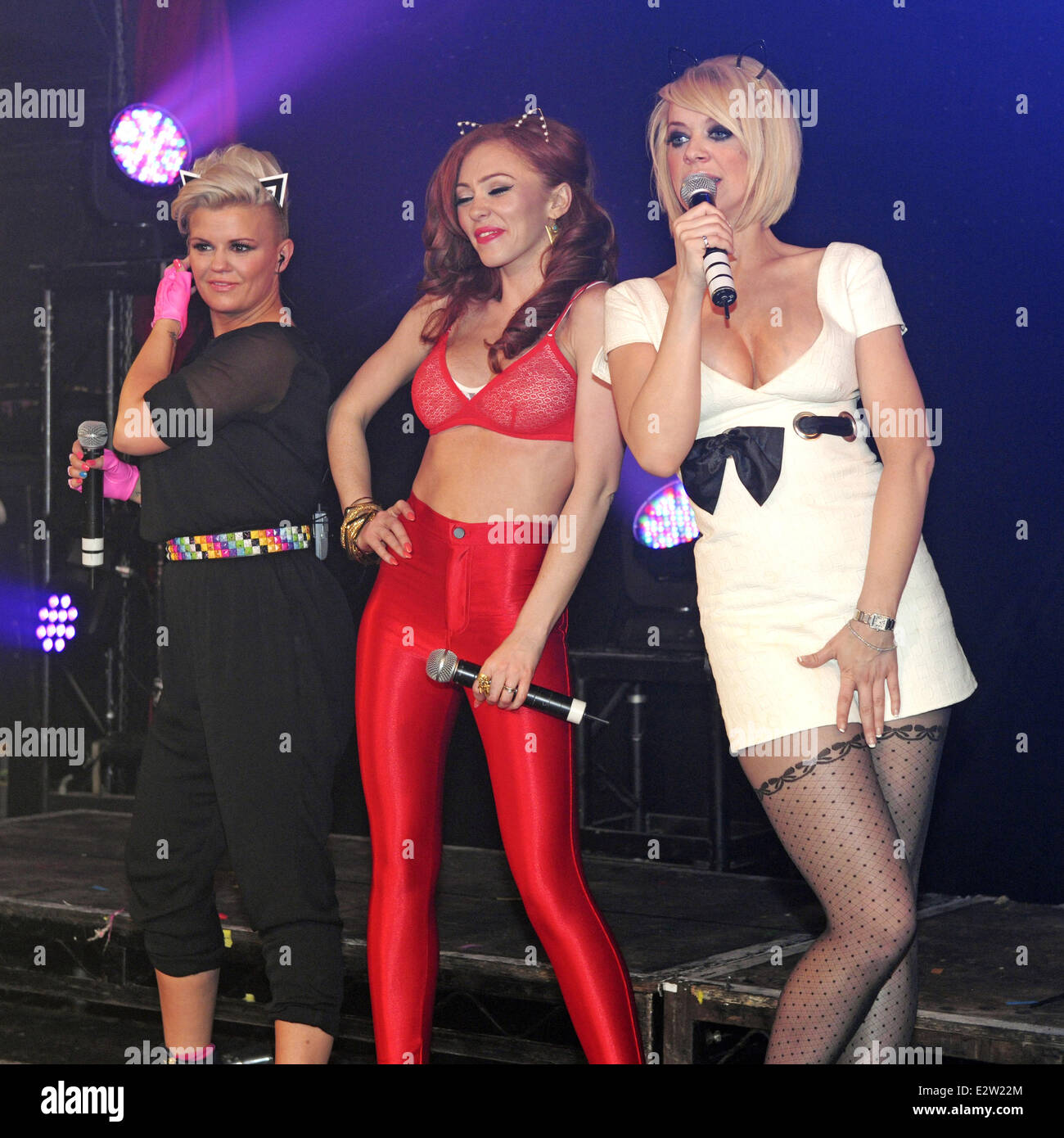Atomic Kitten Perform Live At G A Y Featuring Kerry Katona Natahsa Stock Photo Alamy