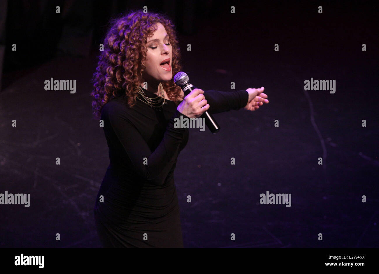 TDF Gala honoring Philip J. Smith held at the Edison Ballroom  Featuring: Bernadette Peters Where: New York, United - Stock Image
