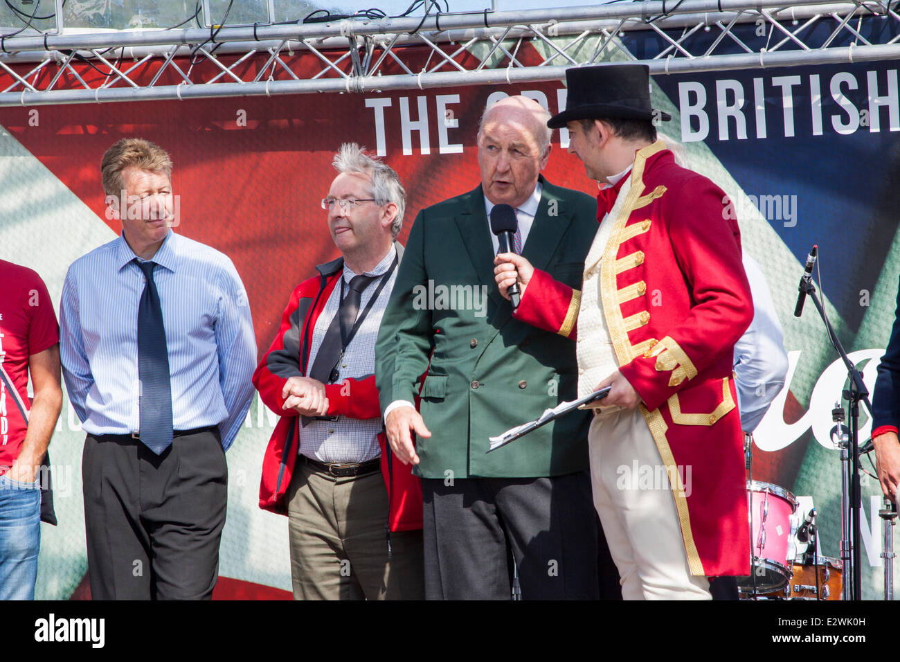 Bakewell, Derbyshire, UK. 20 June 2014. Sir Peregrine Cavendish, the current Duke of Devonshire and resident at - Stock Image