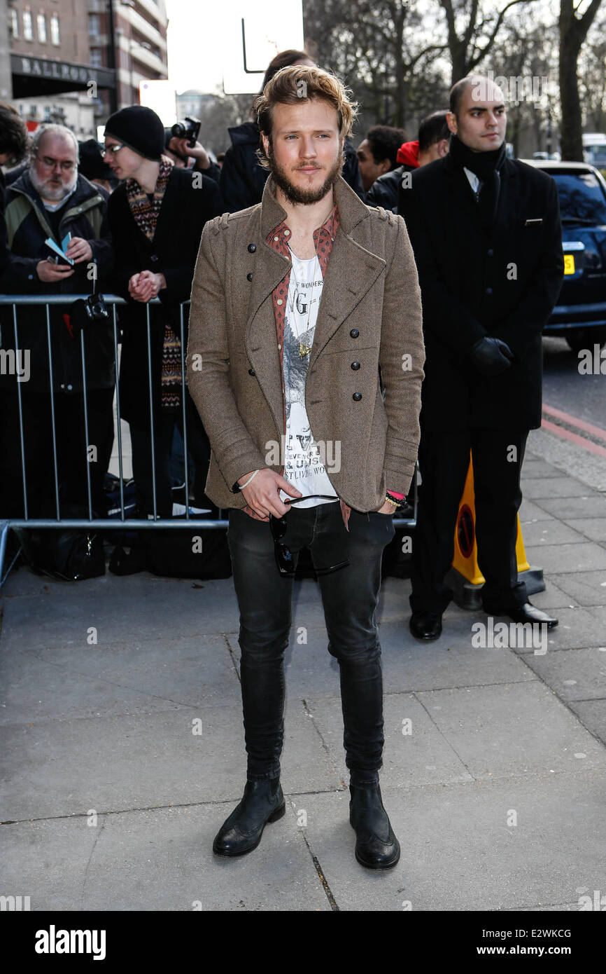 The TRIC Awards 2013 held at the Grosvenor House Hotel - Arrivals  Featuring: Dougie Poynter Where: London, United Stock Photo
