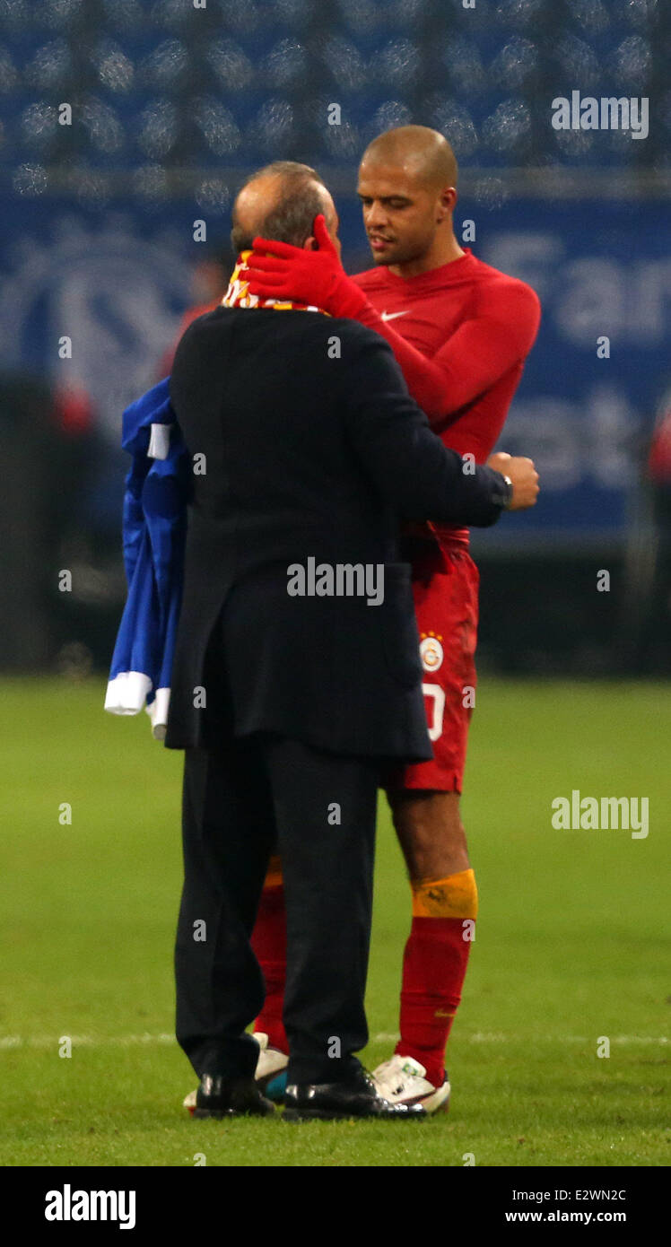 UEFA Champions League second leg match  Schalke 04 vs Galatasaray at Veltins arena in Gelsenkirchen, Germany  Featuring: - Stock Image