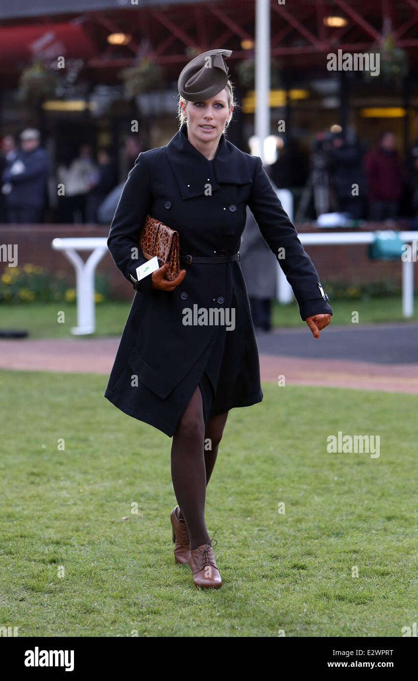 Zara Phillips spotted leaving the parade ring Day 3 of the Cheltenham  Festival Featuring  Zara d7eeeb49aae2
