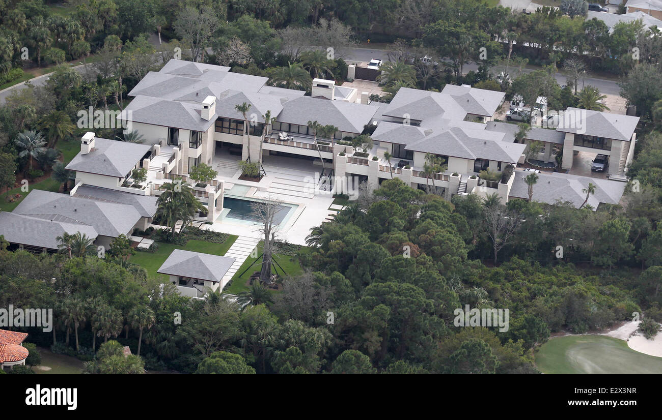 Aerial views of former NBA superstar Michael Jordan s new home in Florida.  The recently completed 3f5c50562