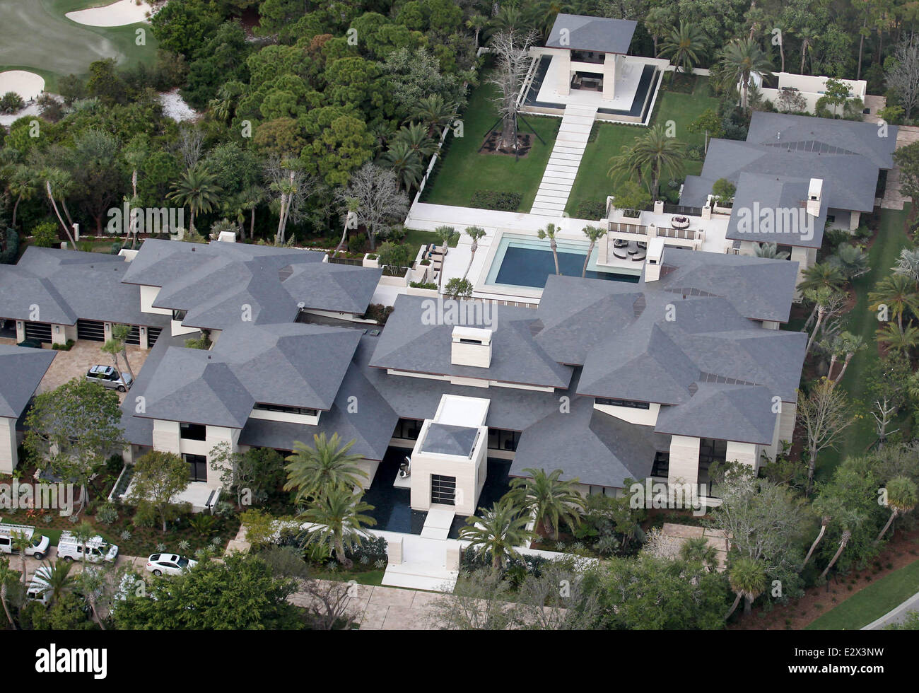 Aerial views of former NBA superstar Michael Jordan s new home in Florida.  The recently completed luxury property boasts 11 bedrooms a202ec023