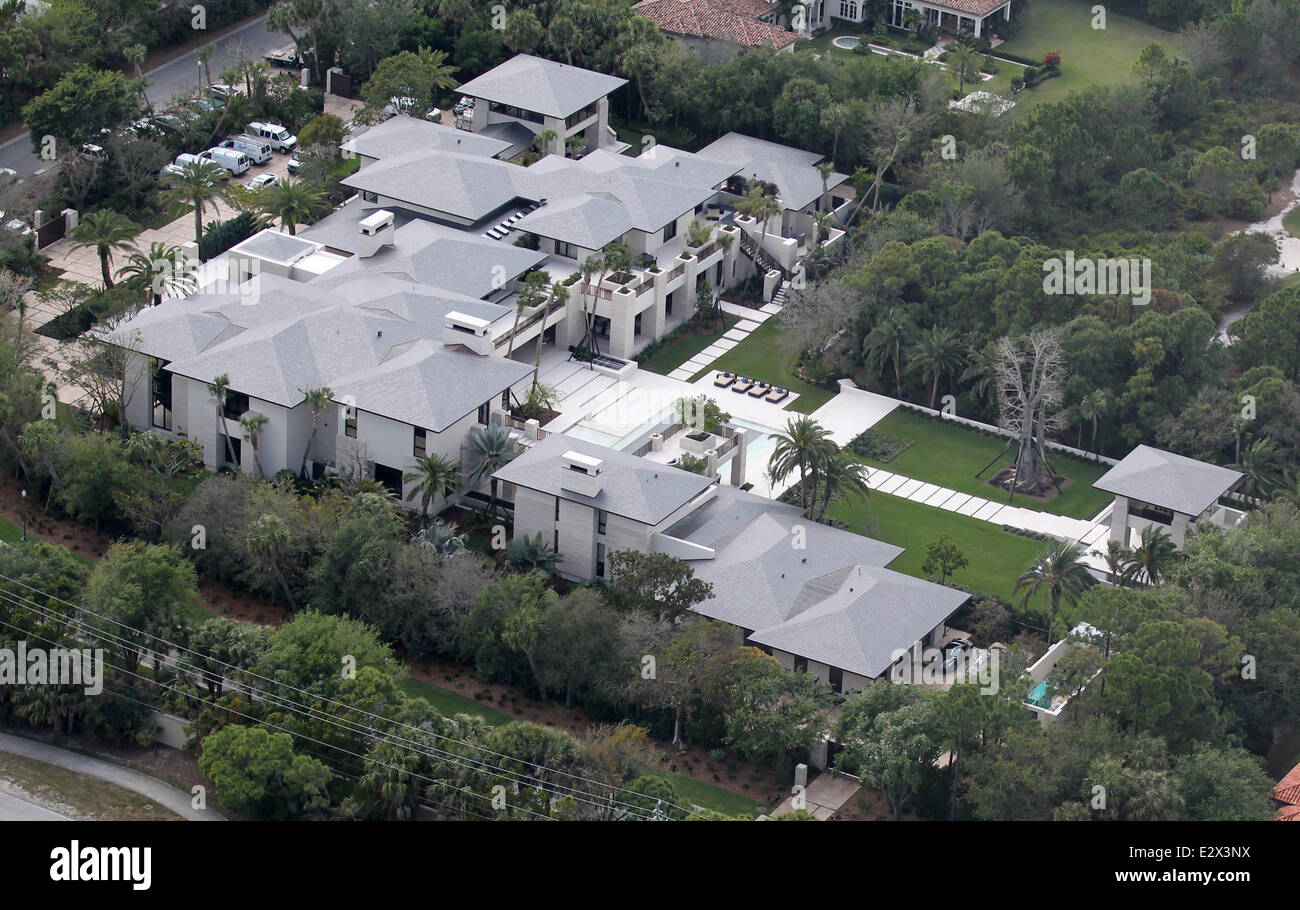 Aerial Views Of Former NBA Superstar Michael Jordans New Home In Florida The Recently Completed Luxury Property Boasts 11 Bedrooms A Pool House And