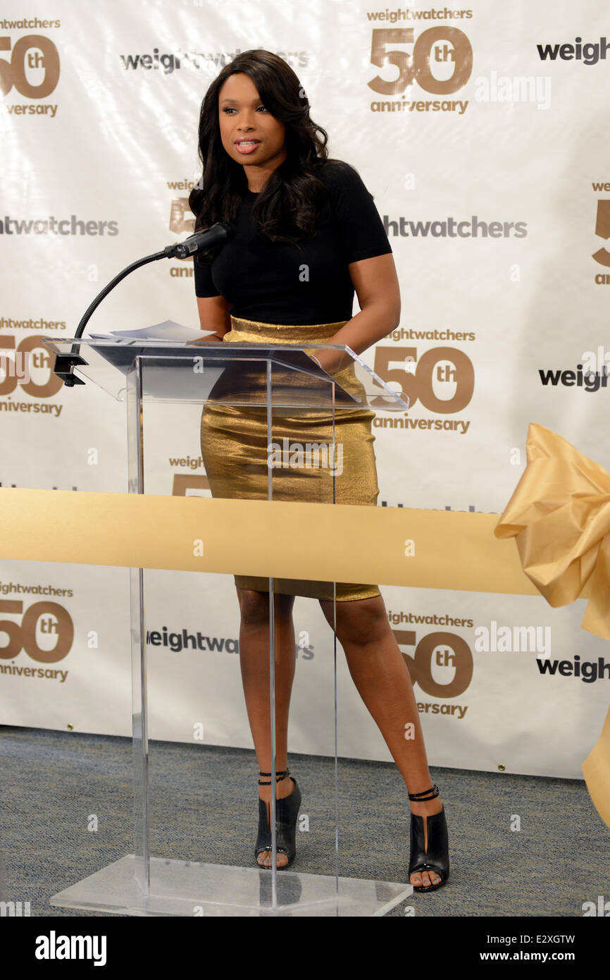 Weight Watchers celebrates it's 50th anniversary with a tribute to it's founder by Jennifer Hudson  Where: - Stock Image