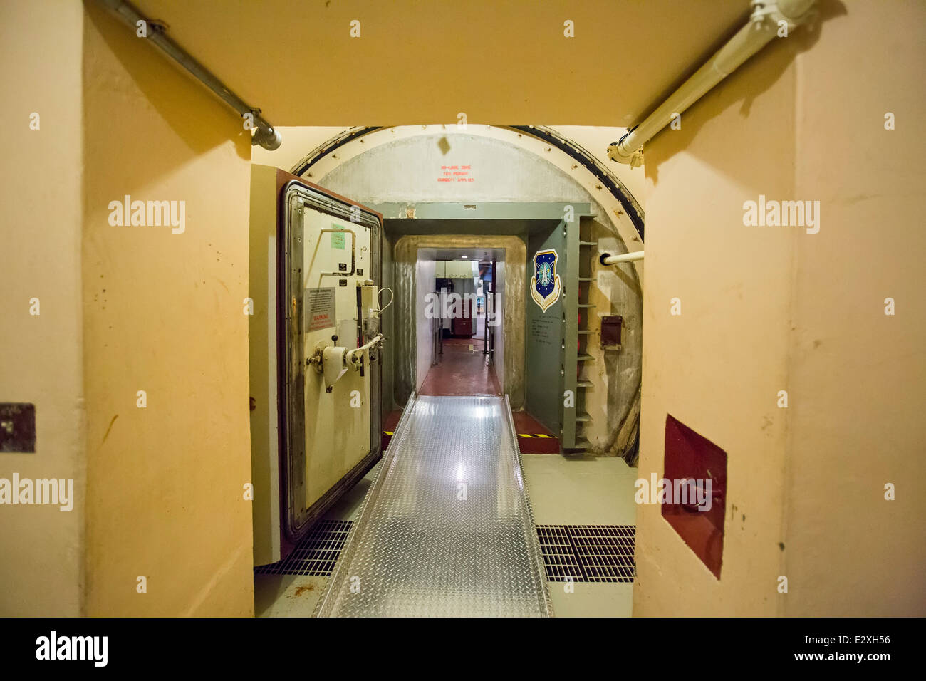 The Ronald Reagan Minuteman Missile State Historic Site, a launch control facility that controlled 10 nuclear missiles. - Stock Image