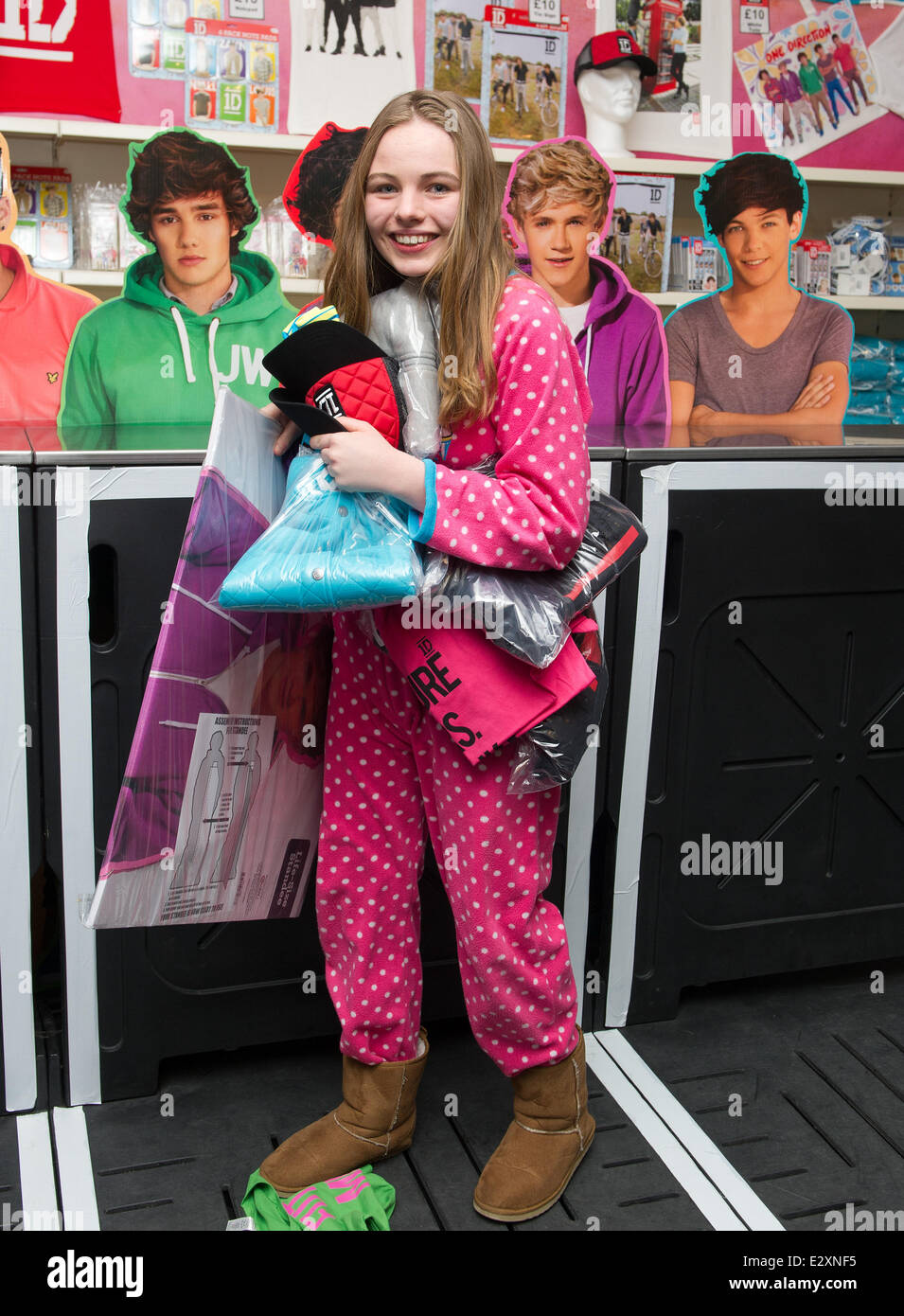 Fans of One Direction attending the opening of 1D World, a