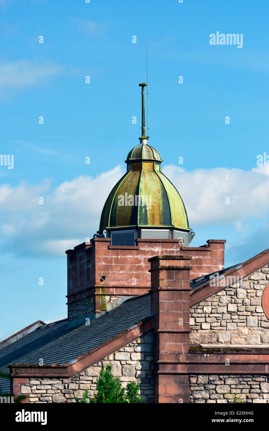 Copper cupola. Summerhill Nursing & Residential Home. Eastview, Kendal, Cumbria, England, United Kingdom, Europe. Stock Photo