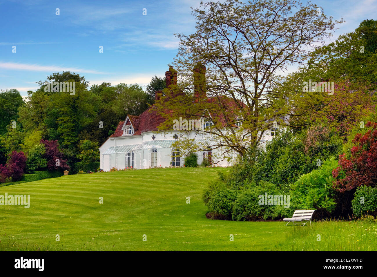 Houghton Lodge, Stockbridge, Hampshire, England, United Kingdom - Stock Image