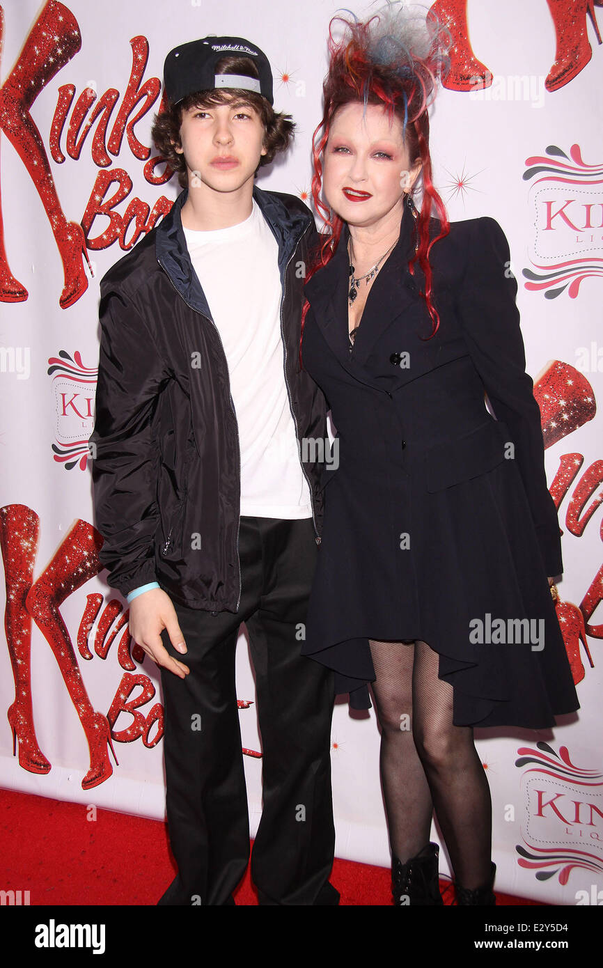 Celebrities Attend The Broadway Premiere Of Kinky Boots At The Stock Photo Alamy Declyn wallace thornton lauper. biographies.net. https www alamy com stock photo celebrities attend the broadway premiere of kinky boots at the hirschfeld 70667776 html