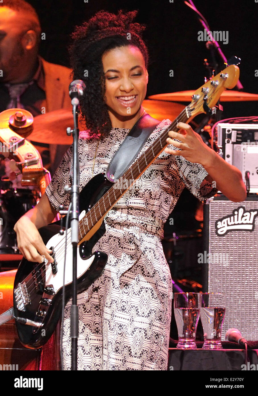 Esperanza Spalding performs live during the Radio Music