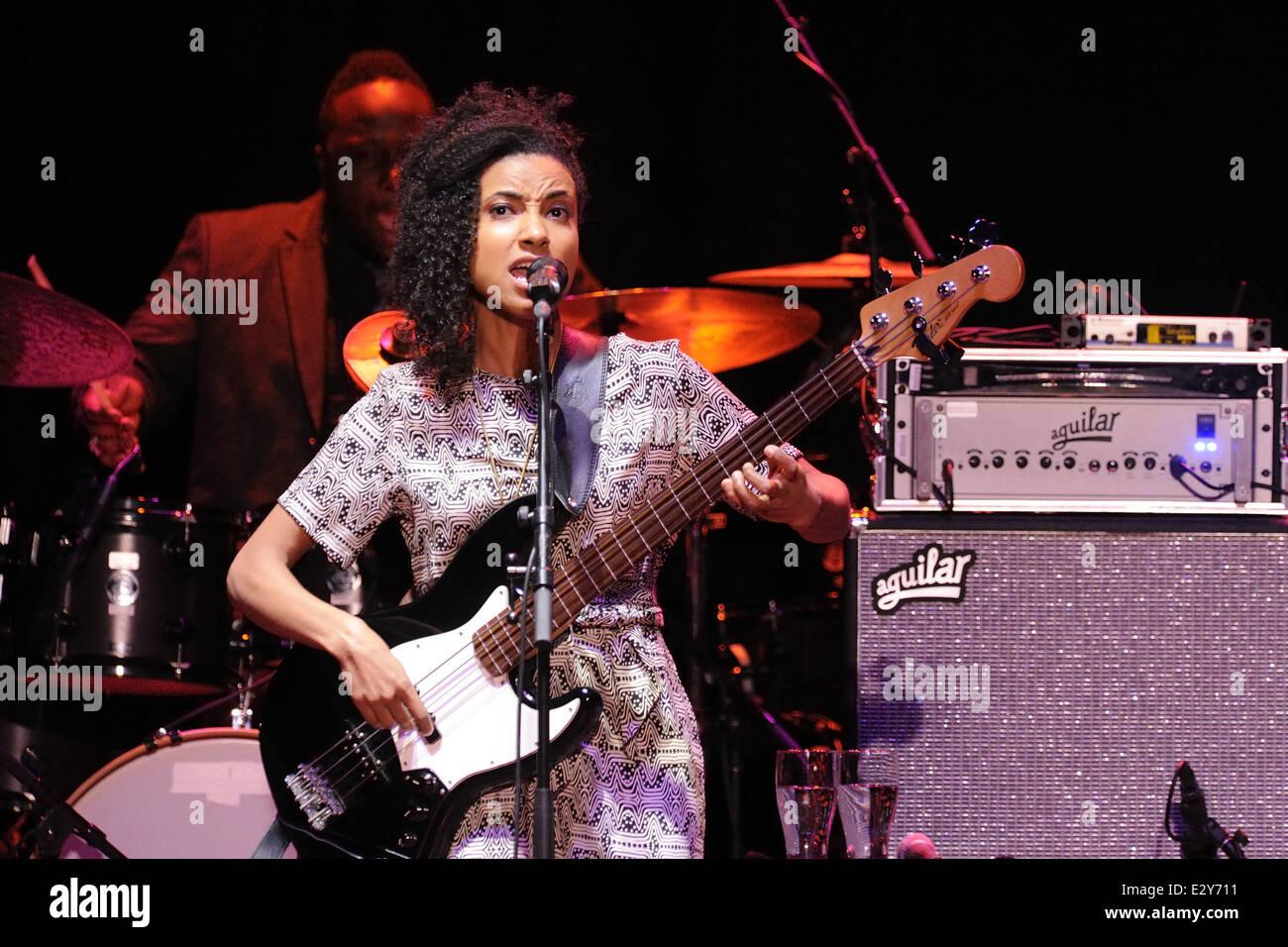 Esperanza Spalding Performs Live During Stock Photos