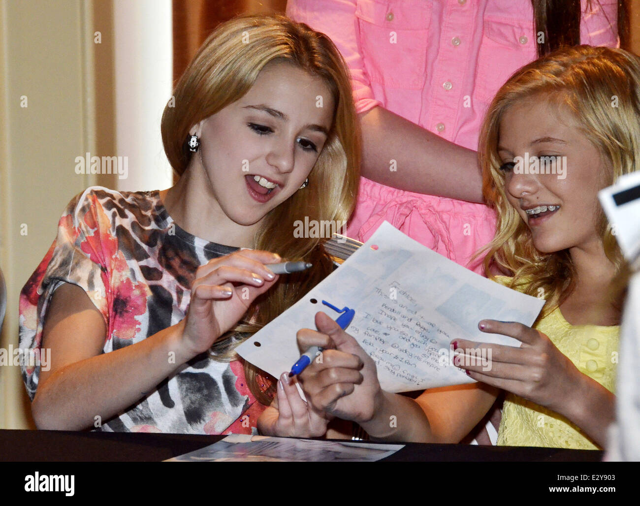 Cast members of the reality show dance moms attend a meet and cast members of the reality show dance moms attend a meet and greet at marriott downtown featuring chloe lukasiakpaige hyland where philadelphia m4hsunfo