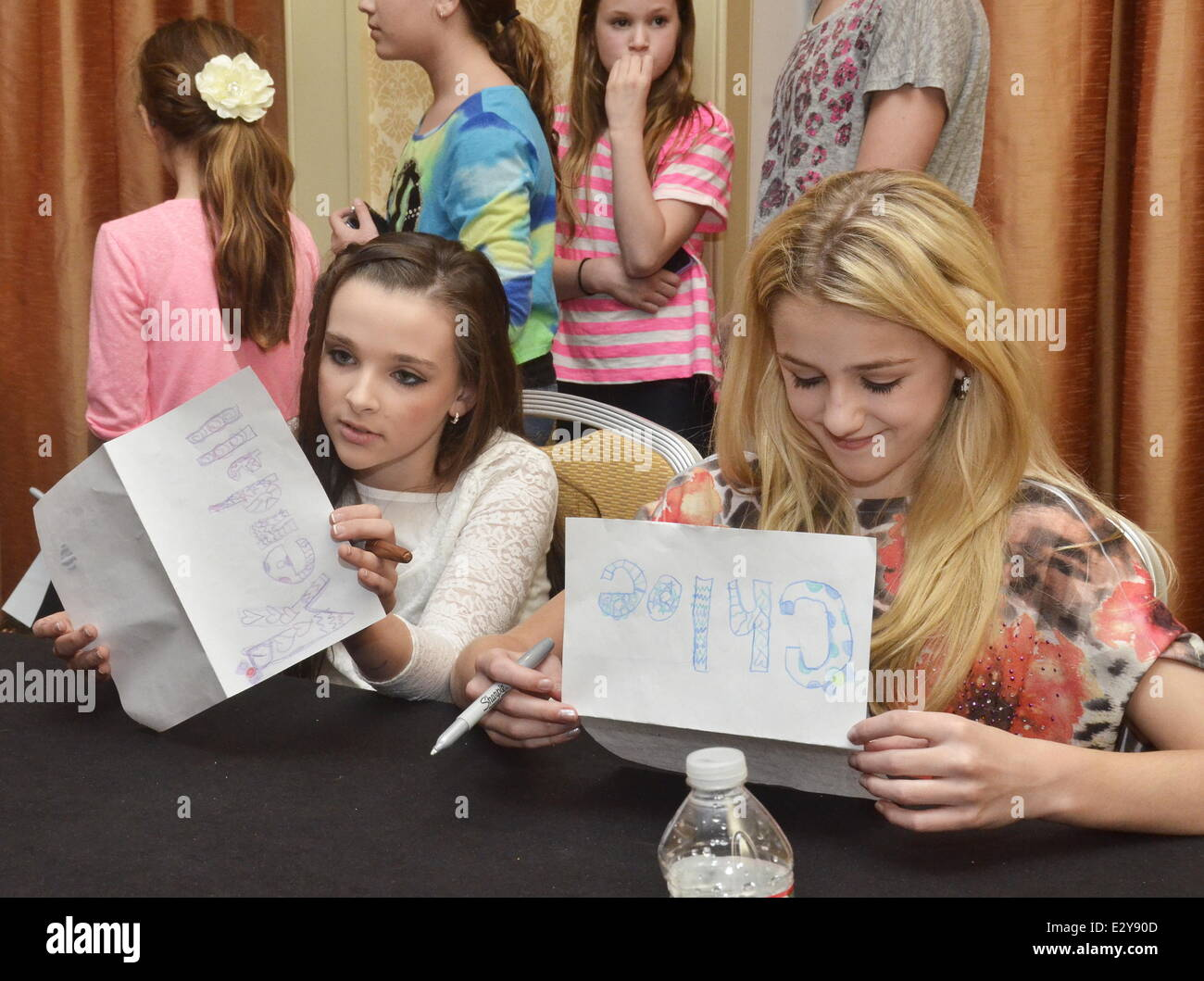 Cast members of the reality show dance moms attend a meet and cast members of the reality show dance moms attend a meet and greet at marriott downtown featuring kendall lukasiakchloe lukasiak where philadelphia m4hsunfo