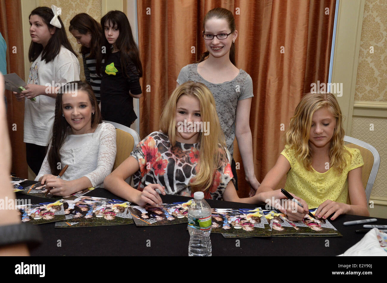 Cast members of the reality show dance moms attend a meet and cast members of the reality show dance moms attend a meet and greet at marriott downtown featuring kendall verteschloe lukasiakpaige hyland where m4hsunfo