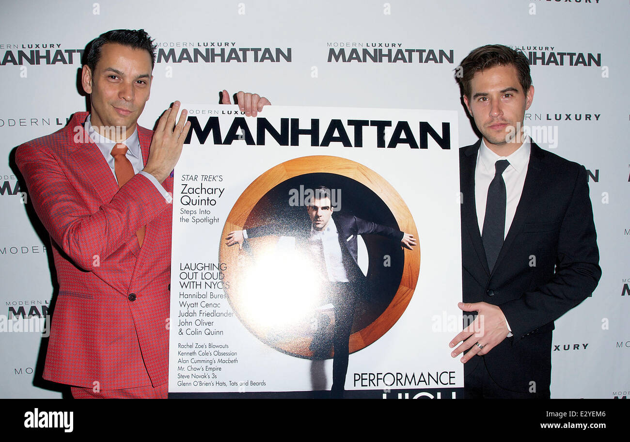 Manhattan Men's Magazine Issue Party Hosted By Zach Quinto
