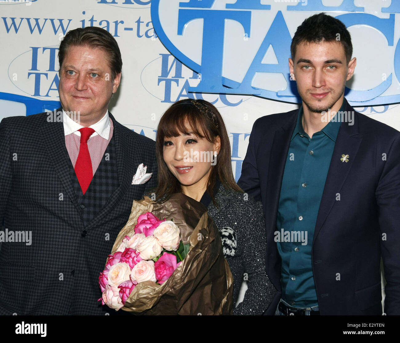 Korean Opera Singer Sumi Jo Attends A Press Conference For The