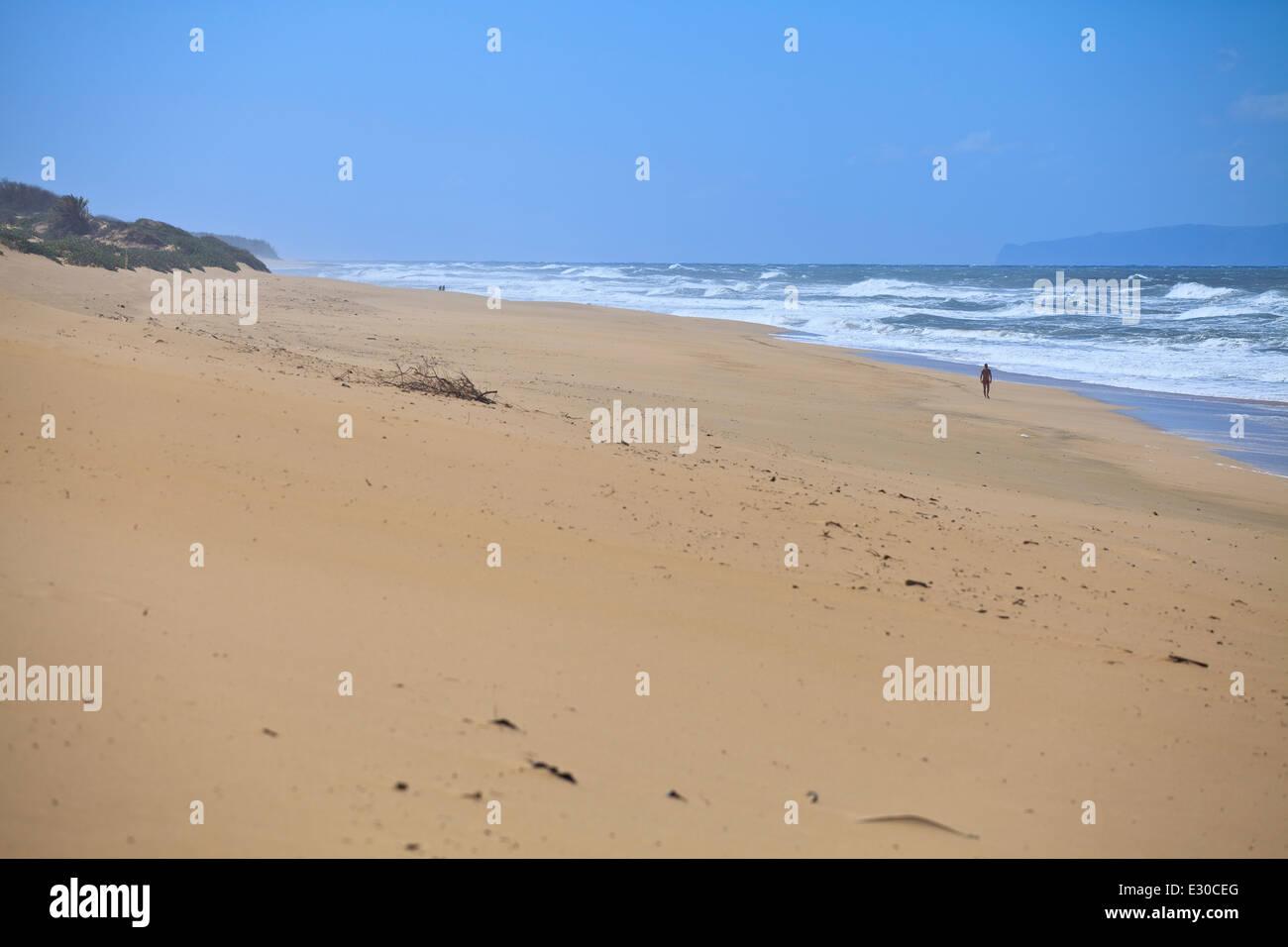 Barking Sands Beach, Kauai, Hawaii Stock Photo